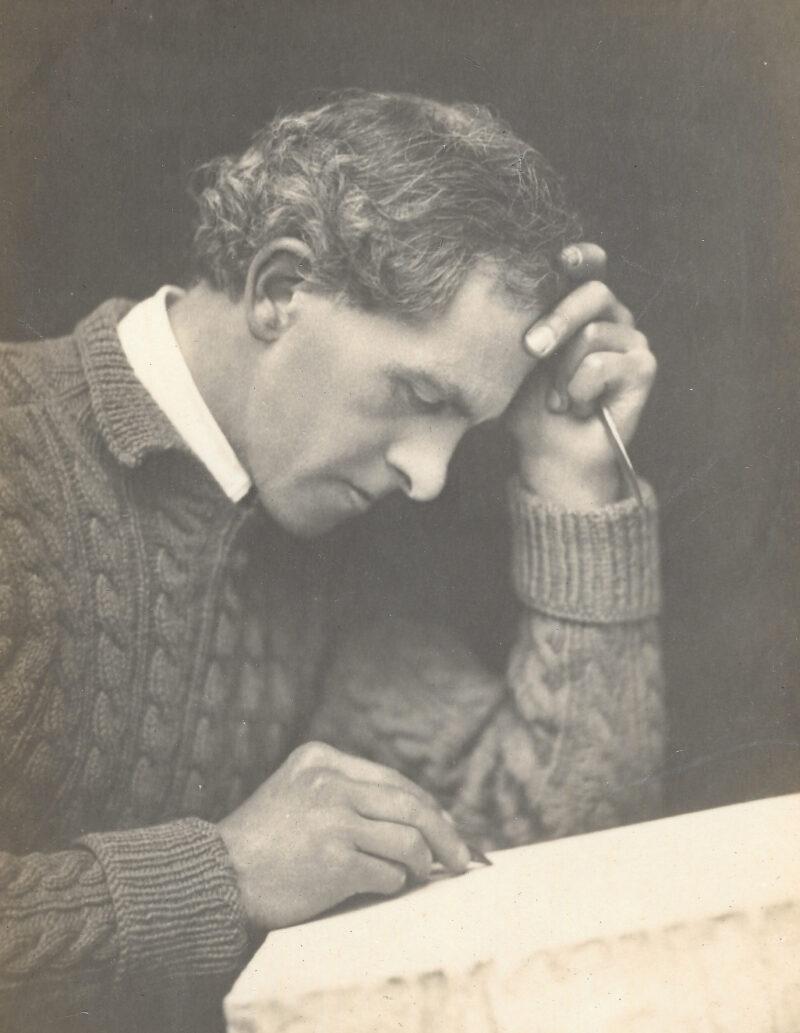 John Copley at his lithography stone
