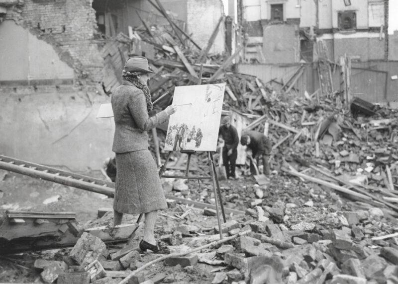 Ethel Gabain at work during World War Two