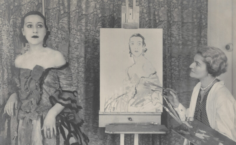 Ethel Gabain at work