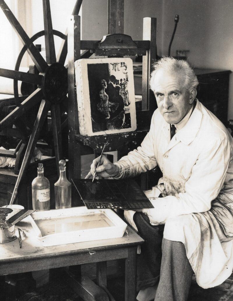 John Copley in his studio